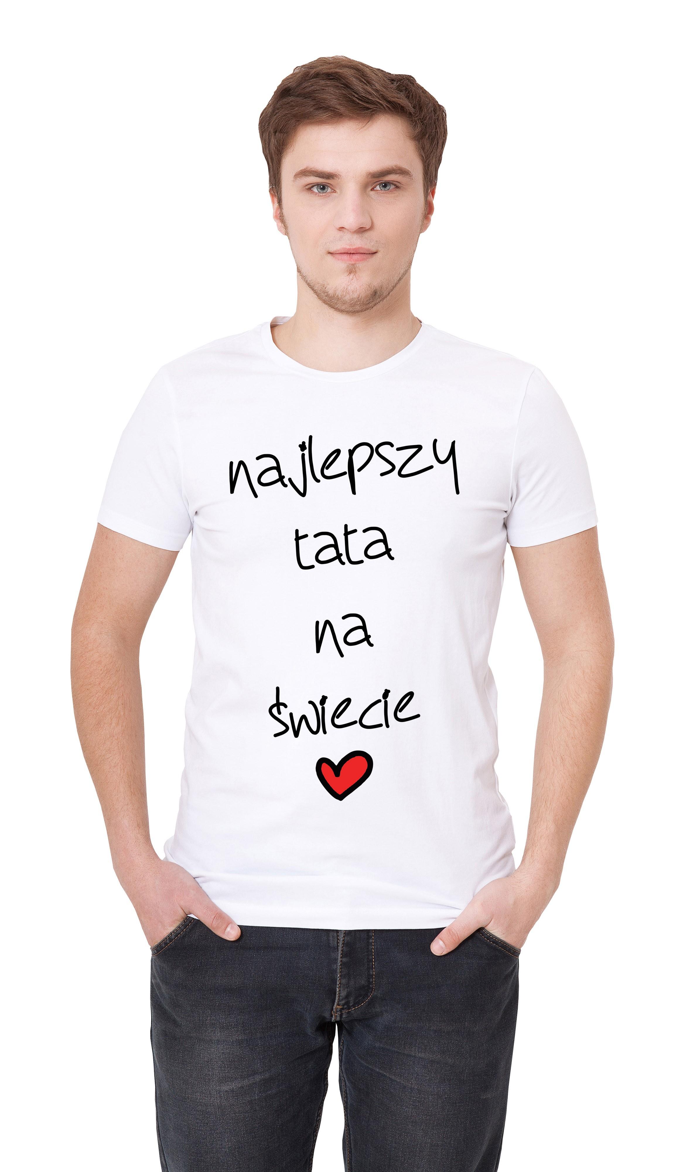 Najlepszy tata na świecie - śmieszny prezent na dzień ojca, koszulka dla taty, prezent tata, prezent dla najlepszego taty